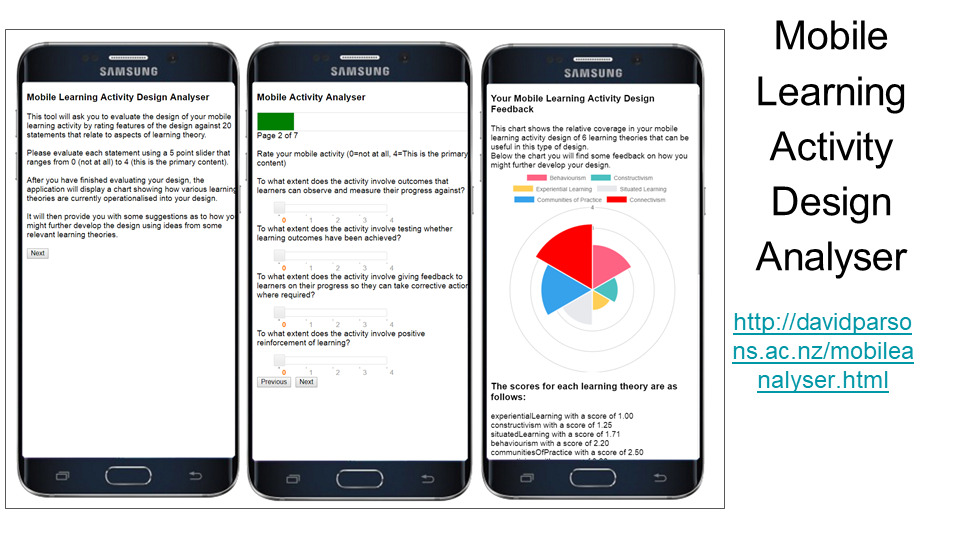 Mobile Learning Activity Design Analyser